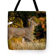 Running Buck Tote Bag by Larry Ricker