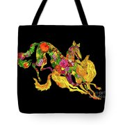 Running Dogs Black Tote Bag