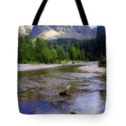 Running Eagle Creek Glacier National Park Tote Bag