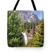 Running Eagle Falls Glacier National Park Tote Bag