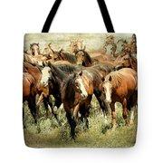 Running Free Horses IIi Tote Bag