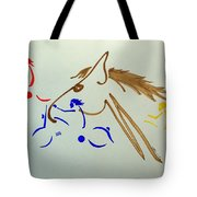 Running Among The Pack Tote Bag