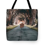 Running In The Forest Tote Bag