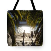Running In The Light Tote Bag