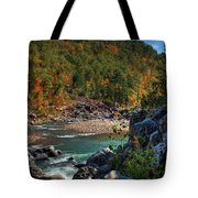 Running Into Autumn Tote Bag