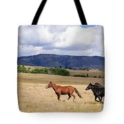 Running Into The Wind Tote Bag