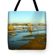 Running On The Beach Tote Bag