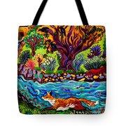 Running River, Running Fox Tote Bag