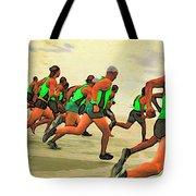 Running Start Tote Bag