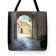 Running Through Tunnel Tote Bag