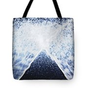 Running Water On Black Background Tote Bag