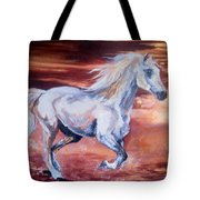 Running With The Wind Tote Bag