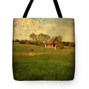 Rural Cottage Tote Bag by Jill Battaglia
