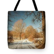 Rural Country Road Tote Bag