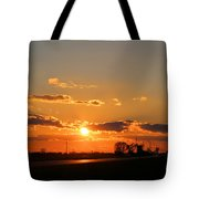 Rural Il Sunset Reflections Tote Bag