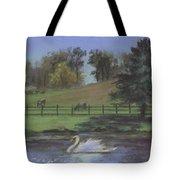 Rural Landscape Painting Of Bauer Farm Tote Bag