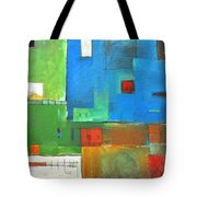 Rural Landscape Rusted Tote Bag