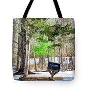 Rural Mailbox In The Snow 1 Tote Bag