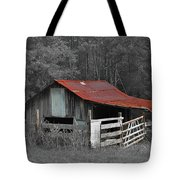 Rural Red - Red Roof Barn Rustic Country Rural Tote Bag