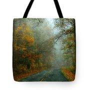Rural Road In North Carolina With Autumn Colors Tote Bag