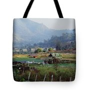 Rural Scene Near Chiang Mai, Thailand Tote Bag by Bilderbuch