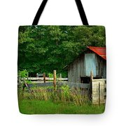 Rural Serenity - Red Roof Barn Rustic Country Rural Tote Bag