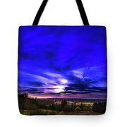 Rural Sunset Panorama Tote Bag