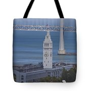 Rush Hour Above The Ferry Building Tote Bag
