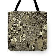 Rush Hour - Antique Sepia Tote Bag