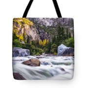 Rush Of The Merced Tote Bag