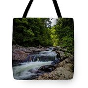 Rushing Falls In The Mountains Tote Bag