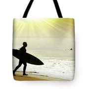 Rushing Surfer Tote Bag