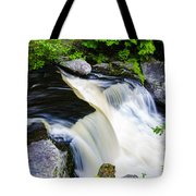 Rushing Water On A Mountain Stream Tote Bag