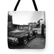Russel Farms 1951 Ford F100 Black And White Tote Bag