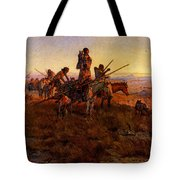 Russell Charles Marion In The Wake Of The Buffalo Hunters Tote Bag