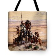 Russell Charles Marion Indians On Plains Tote Bag