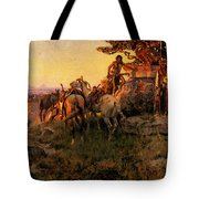 Russell Charles Marion Watching For Wagons Tote Bag