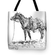 Russell: Rawlins Horse Tote Bag