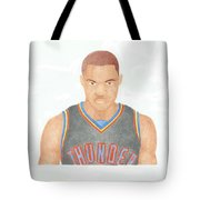 Russell Westbrook  Tote Bag by Toni Jaso