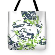 Russell Wilson Seattle Seahawks Pixel Art 10 Tote Bag
