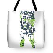 Russell Wilson Seattle Seahawks Pixel Art 11 Tote Bag