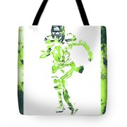 Russell Wilson Seattle Seahawks Water Color Art 1 Tote Bag