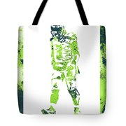 Russell Wilson Seattle Seahawks Water Color Art 2 Tote Bag