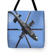 Russian Air Force Ka-52 Helicopter Tote Bag