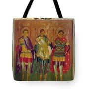 Russian Icon: Saints Tote Bag