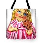 Russian Roly Poly Doll Music Doll Tote Bag