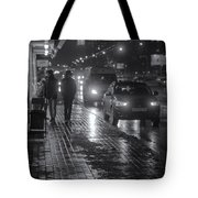 Russian Street Scene At Night 2015 Tote Bag
