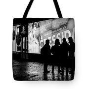 Russian Teens At Night Outside A Shopping Center Tote Bag