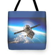 Majestic Blue Planet Earth Tote Bag