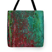 Rust Abstract Tote Bag by Carol Groenen